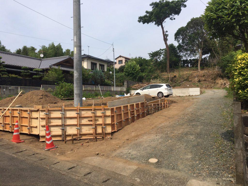 熊本市北区清水亀井で新築工事が始まりました